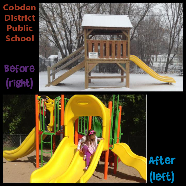 Cobden Before and After